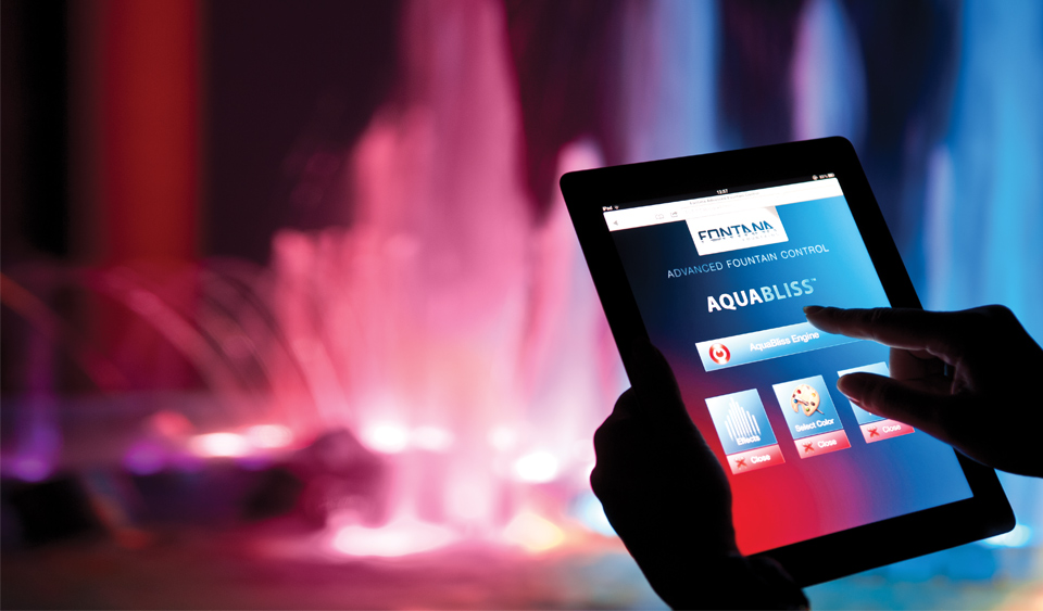iPad controllable fountains